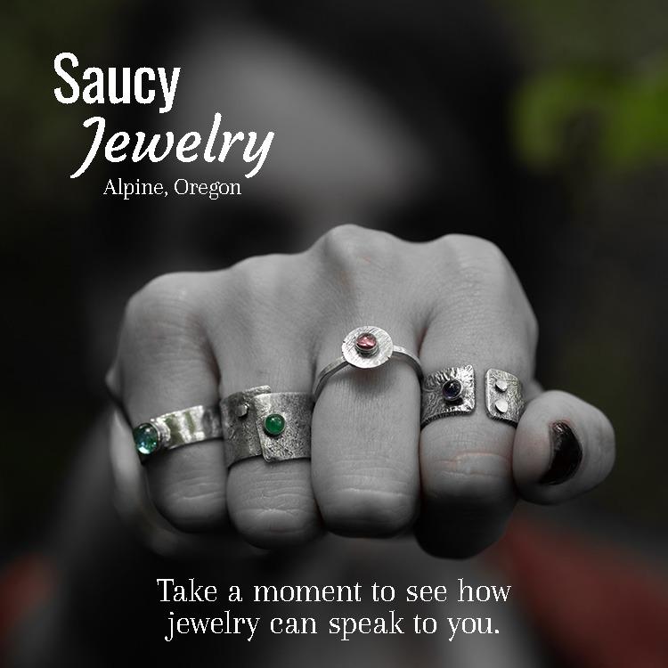 Saucy Jewelry | Organic handmade jewelry