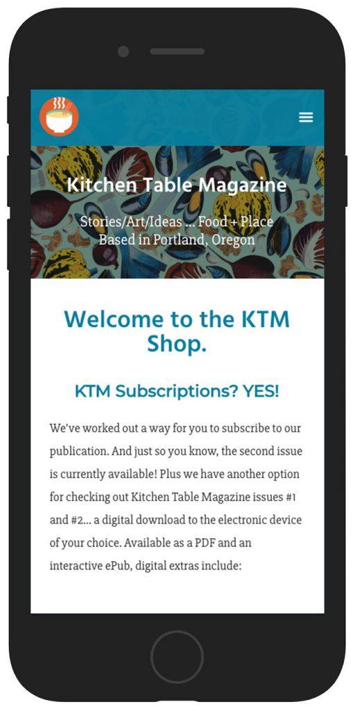 KTM website mobile view