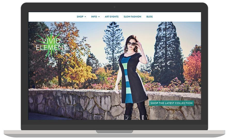 Vivid Element website laptop view