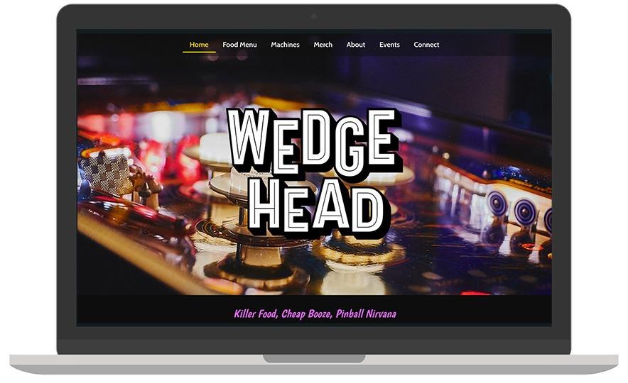Wedgehead website laptop view
