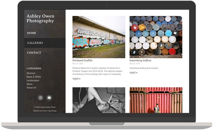 Ashley Owen Photo laptop view