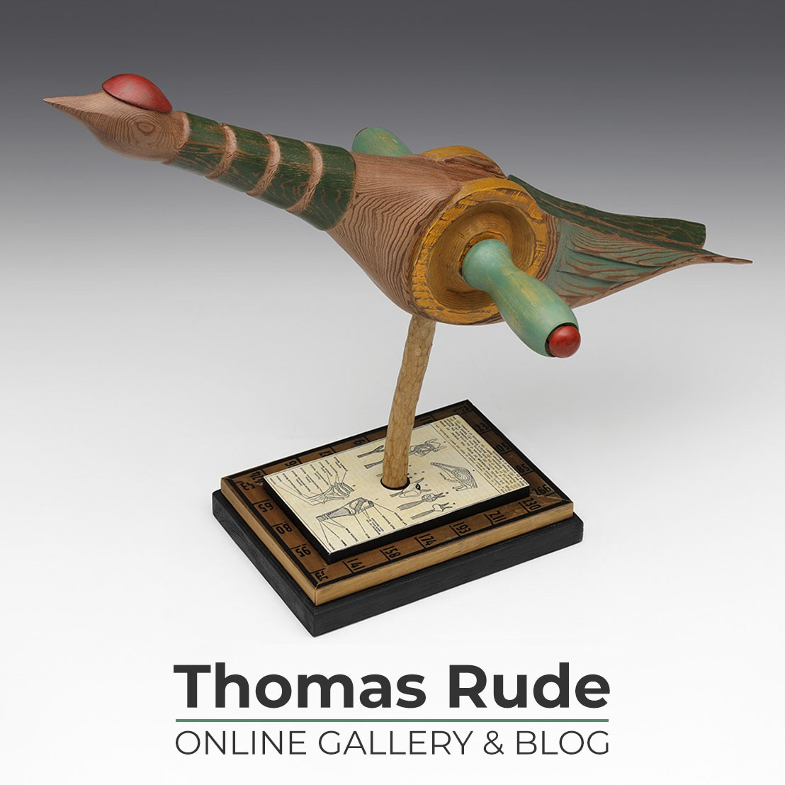 Thomas Rude sculptor portfolio card