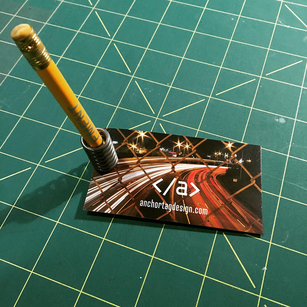 Anchor Tag Design business card