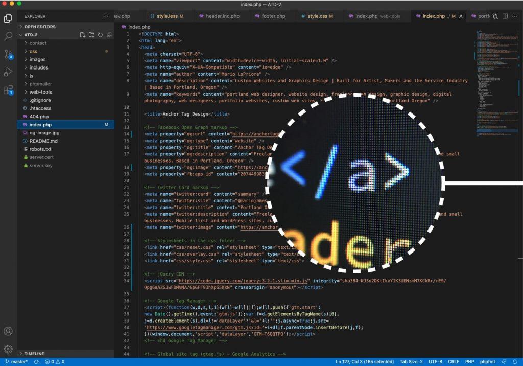 VS Code text editor